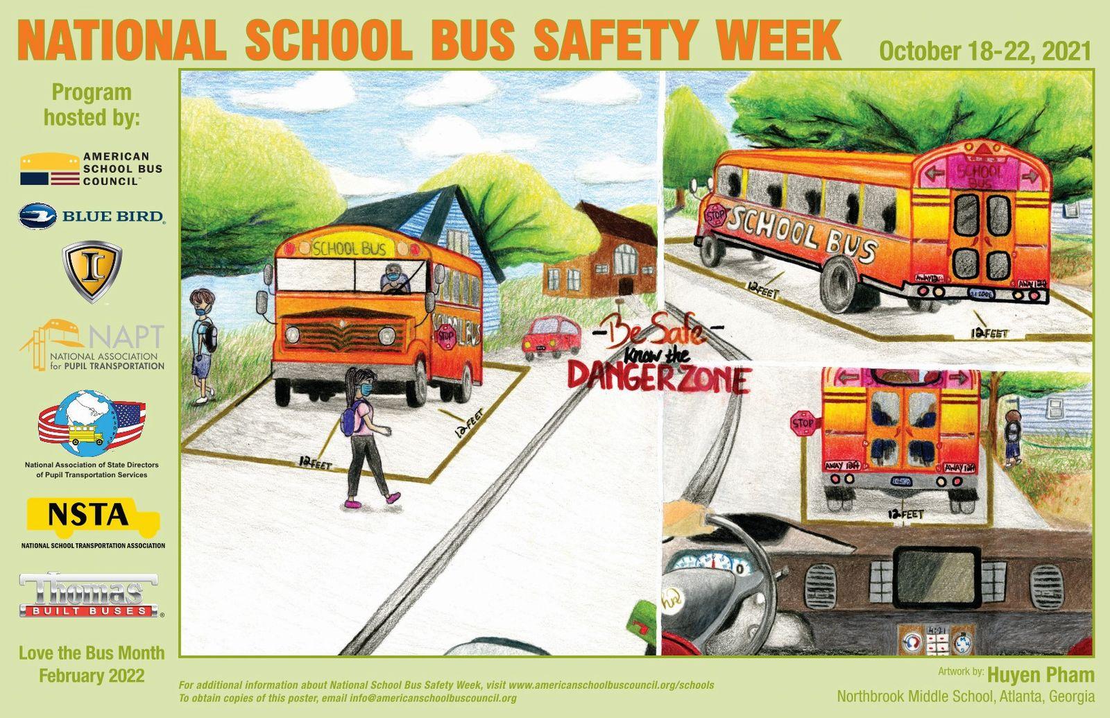 2021 National School Bus Safety Week: October 18-22, 2021.